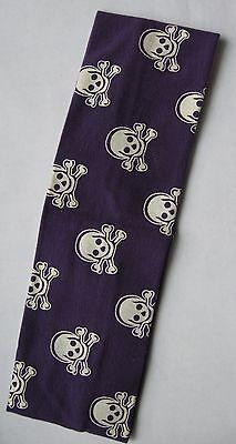 1 Pirate Headband Skull Bones cotton 2.5