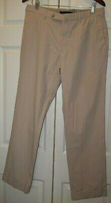 INCOTEX Slowear Beige Icegab trousers 36x31 Flat Front Pants