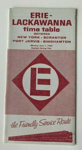 June 1962 Erie Lackawanna Railroad RR Timetable New York Scranton Binghamton