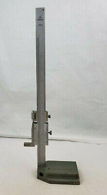 Vintage Mitutoyo Japan 0-12 .001 Vernier Calipers Height Gauge On Metal Base