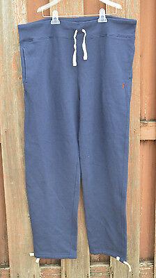 New Polo Ralph Lauren Mens XL Navy Fleece Cotton Sweat Pants Lace Closed Bottom - Closed Bottom Sweatpant