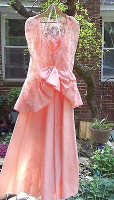 VINTAGE 1980s PROM DRESS HALLOWEEN COSTUME