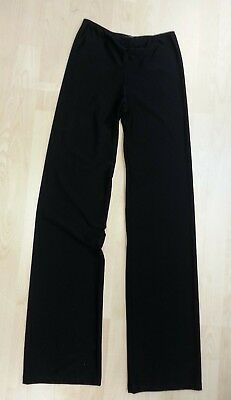 Agiva 3809 Ruched Front Detail Jazz Pants Size S Black Meryl Moisture Management Front Jazz Pant