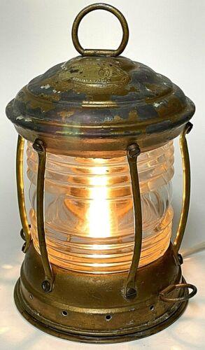 Vintage Perko Steel Lantern Perkins Marine Lamp With Clear Glass