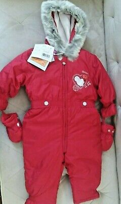 NWT PAMPOLINA Toddler Girl 12 months Red Snowsuit