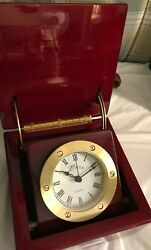 Marco Clock in Red Laminated Wood Case Battery Quartz New In Box CK 1