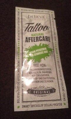 Believa Tattoo natural Aftercare 5ml Vegane Pflegecreme für Tatowierte Haut