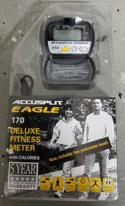 Accusplit Wellness Series: Eagle AE170 Deluxe Activity Pedometer *NEW/SEALED!*
