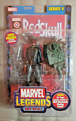 "ToyBiz Marvel Legends Series 5 RED SKULL 6"" figure RARE SEALED"