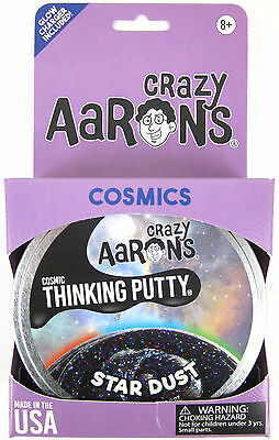 Star Dust Crazy Aarons Thinking Putty Cosmic Glow In The Dark Glitter Black 4