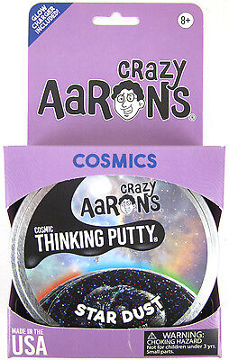 Star Dust Crazy Aaron's COSMICS Glow in the Dark Glitter Thinking Black Putty