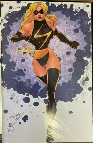 SEXY MS. MARVEL RUNNING GW FISHER SIGNED PRINT 11 x 17 #oa-1239