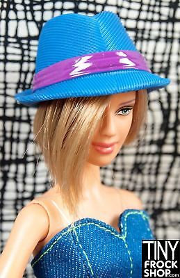 Barbie or Ken Avastars Faux Cord Blue Fedora Hat