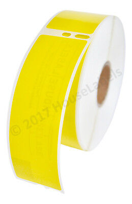 6 Rolls Of 350 Yellow Address Labels For Dymo Labelwriters Lw 30252 Fast Ship
