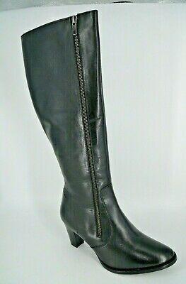 Kaleidoscope Stretch Panel Leather Boots Size UK 6 EU 39 BT04 45