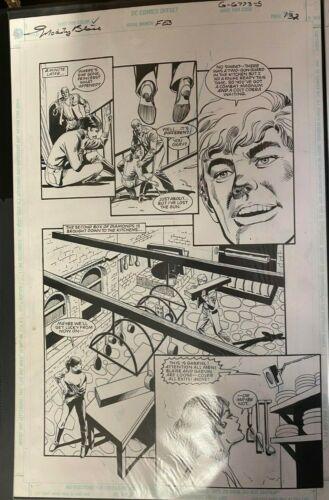 MODESTY BLAISE DC GRAPHIC NOVEL DICK GIORDANO ORIGINAL ART PAGE #132 #oa-1197