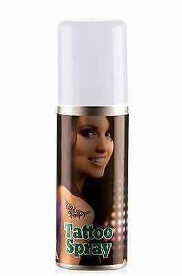Air Brush Tattoo Spray  in weiß  für Bodystamp Bodypainting Tämporäre Tattoos ()