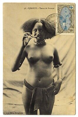 Schönheit Kopf (Somalia NACKTE SCHÖNHEIT LOCKENKOPF Djibouti * Vintage 10s Ethnic Nude PC)