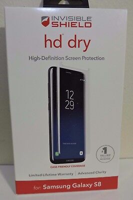 New   Zagg Invisibleshield Hd Dry Screen Protector For Samsung Galaxy S8