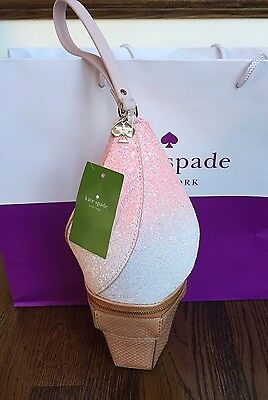 NWT Kate Spade Ice Cream Cone wristlet Flavor Of The Month NWT