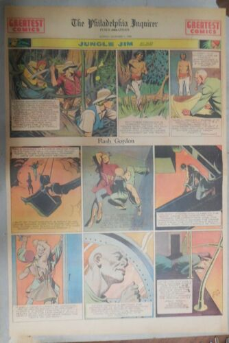 Flash Gordon Sunday by Alex Raymond from 12/1/1940 Large Full Page Size !