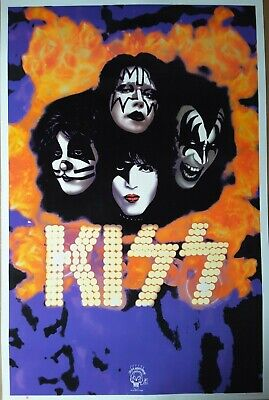 KISS YOU WANTED THE BEST VINTAGE BLACKLIGHT VELVET 1995 OFFICIAL US POSTER