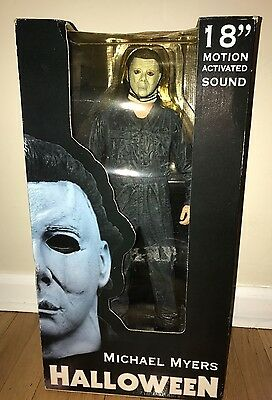 "NEW NECA HALLOWEEN 18"" MOTION ACTIVATED SOUND MICHAEL MYERS NIB"