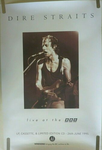 RARE DIRE STRAITS LIVE AT THE BBC 1995 VINTAGE ORIGINAL MUSIC STORE PROMO POSTER