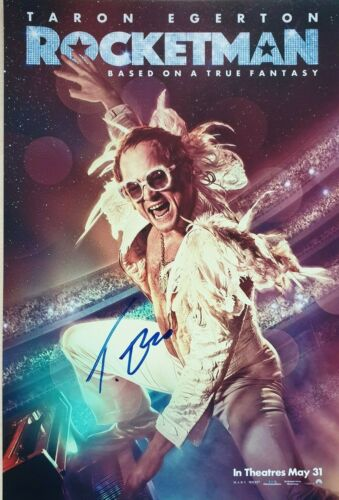 TARON EGERTON Rocketman Signed Autographed Photo VIDEO PROOF Oscars 2020