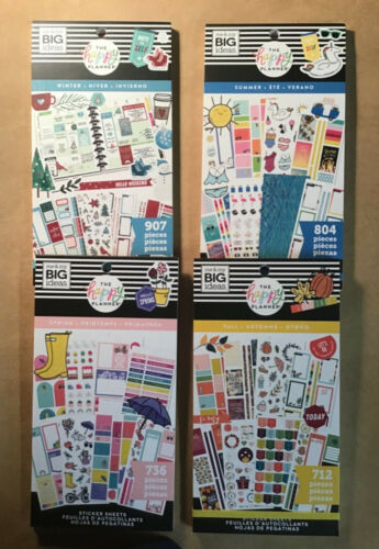 The Happy Planner SET of 4 SEASONS Sticker Books WINTER SUMMER SPRING FALL