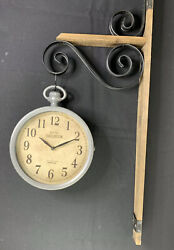 Hotel Brighton Paris Double Sided Wall Mounted Hanging Wall Clock French Style
