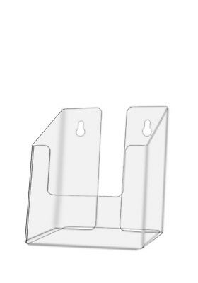Clear Acrylic Brochure Holder For 4w Literature Wall Or Counter Lot Of 48