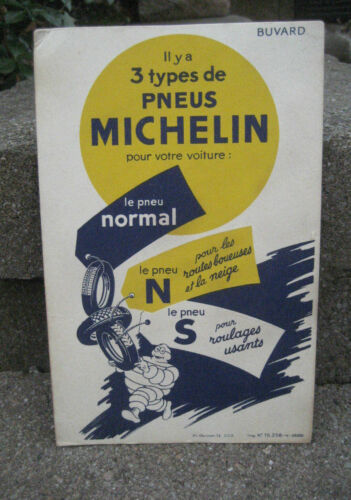 RARE Vintage Michelin Tires Cardboard Store Window Sign w/ Bibendum....French