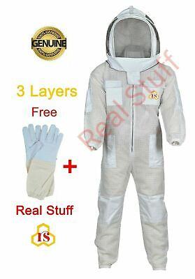 Beekeeper Ultra Ventilated 3 Layer Mesh Xl Beekeeping Suit Bee Hat Veil Xl
