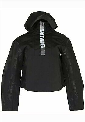 ALEXANDER WANG X H&M WOMEN'S  BLACK LOGO CROPPED ANORAK RAIN JACKET /COAT £149