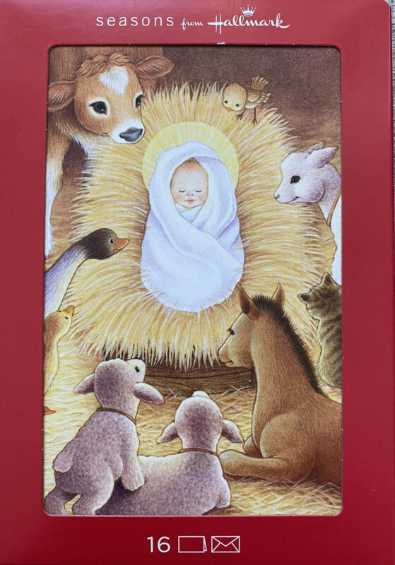 Hallmark  Boxed Christmas Cards .16 count. Manger