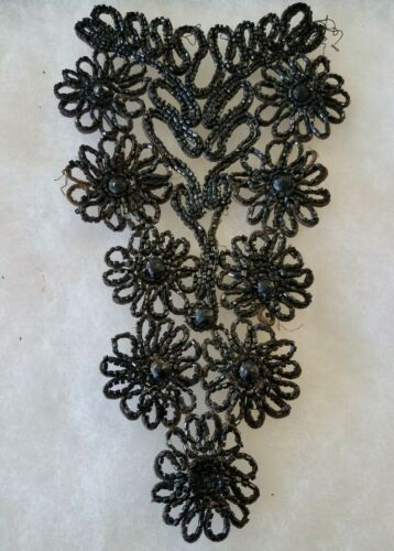 ANTIQUE MOURNING NECK BREAST