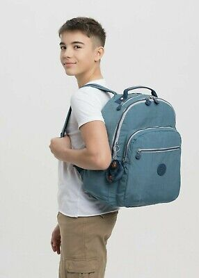 Kipling SEOUL Large Backpack with Laptop Compartment - Baltic Aqua