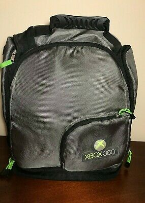 XBOX 360 Backpack Protective Backpack Bag, Black Gray & Green, EUC for sale  Shipping to India