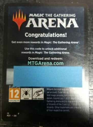 MTG ARENA, M21 Promo Pack EBAY MESSAGE DELIVERY