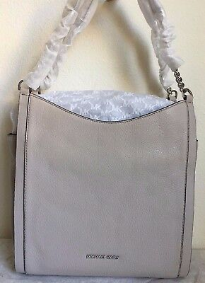NWT!!MICHAEL Michael Kors Newbury Leather Chain Tote Shoulder Bag $328 in Cement