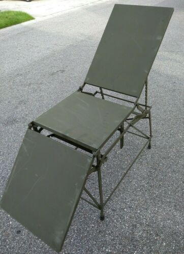 Military Army Field First Aid Operating Table Bed Metal Folding Portable Medical