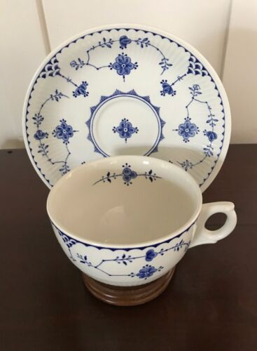 NEW! FURNIVALS DENMARK BLUE OVERSIZED BREAKFAST CUP & SAUCER