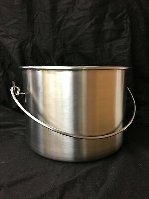 Stainless Steel Cylindrical Pail 16 Liter