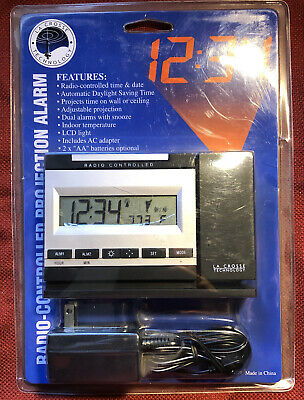 La Crosse Radio Controlled Projection Alarm Clock Atomic Time WT-5720