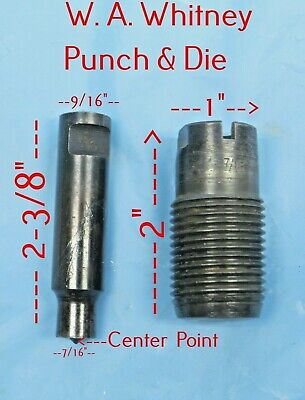 Roper W.a. Whitney No.1 Hand Punch Type O Punch Die Set - 716 Round