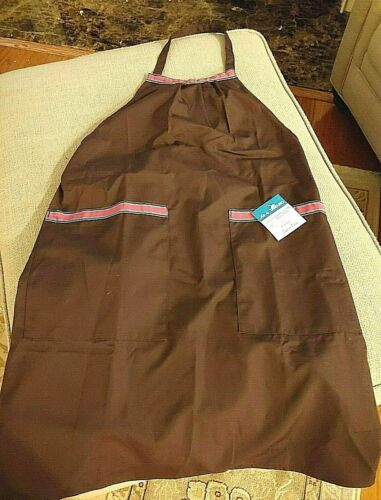NWT Vintage CONTINENTAL AIRLINES Butcher Block APRON - Size M