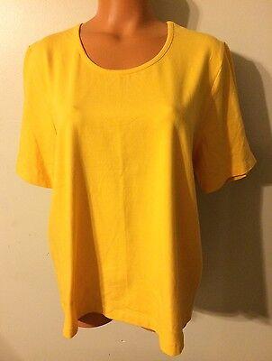 •• NWT Women's size X CJ Banks Christopher & Banks Blouse SS Stretch Shirt