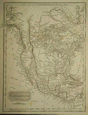 Original Antiquarian Map of South America (1811) Thomas Kelly, Brazil, Chile etc