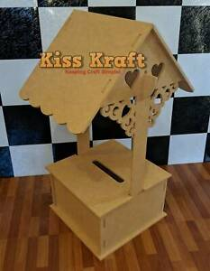 Wedding Wishing Well - Lockable - DIY Craft - Raw MDF - Flat Pack Corio Geelong City Preview